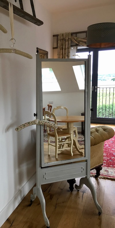 Full length coeval mirror in Leveret Suite