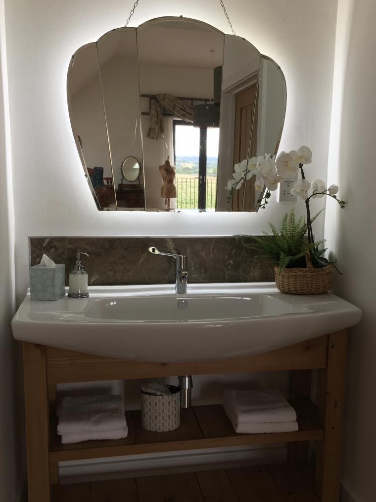 Art Deco Frameless Mirror in Leveret Suite