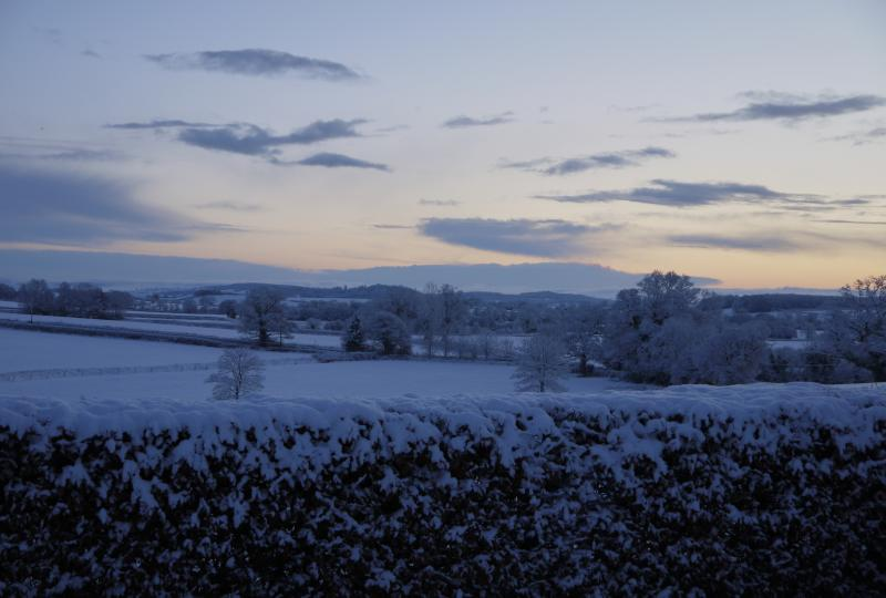 Snowy View from Harefield Barn
